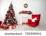 christmas and new year... | Shutterstock . vector #750500941