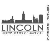 lincoln skyline silhouette... | Shutterstock .eps vector #750503869