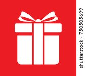 gift box icon   vector | Shutterstock .eps vector #750505699