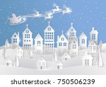 merry christmas and happy new... | Shutterstock .eps vector #750506239