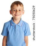 portrait boy isolated on white | Shutterstock . vector #75050629