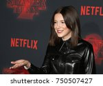 millie bobby brown at the...   Shutterstock . vector #750507427