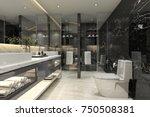 3d rendering modern black... | Shutterstock . vector #750508381