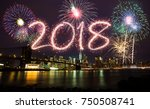 2018 year at new york city | Shutterstock . vector #750508741