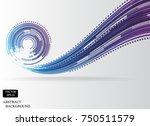 circle technology line pattern...   Shutterstock .eps vector #750511579