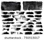 set of black ink vector stains | Shutterstock .eps vector #750515017