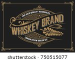 vintage design. whiskey label... | Shutterstock .eps vector #750515077