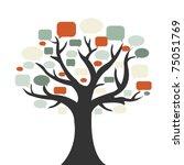 Tree With Speech Bubble ...