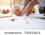 architect or engineer working... | Shutterstock . vector #750523621