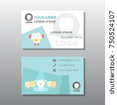 tooth with business card on the ... | Shutterstock .eps vector #750524107