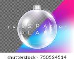 vector crystal clear christmas... | Shutterstock .eps vector #750534514