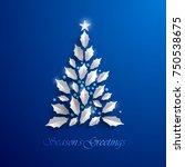 christmas tree. seasons... | Shutterstock .eps vector #750538675