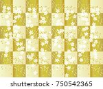 cherry blossoms.japanese... | Shutterstock .eps vector #750542365