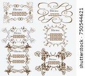 vintage frames and design... | Shutterstock .eps vector #750544621