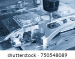 the cnc milling machine cutting ... | Shutterstock . vector #750548089