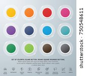 set of colorful blank button.... | Shutterstock .eps vector #750548611