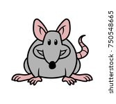 cartoon rat vector illustration | Shutterstock .eps vector #750548665