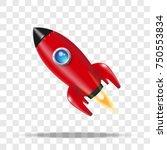 red rocket. vector illustration | Shutterstock .eps vector #750553834