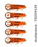 template banner for sport news...   Shutterstock .eps vector #750559159