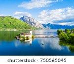 gmunden schloss ort or schloss...   Shutterstock . vector #750565045