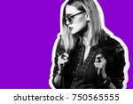 fashion collage in magazine... | Shutterstock . vector #750565555