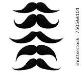 hand drawn funny black hair... | Shutterstock .eps vector #750566101