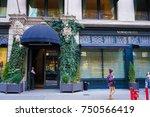 new york  usa. 28 october 2017. ...   Shutterstock . vector #750566419