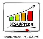 disruption change market... | Shutterstock . vector #750566695