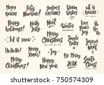 set of holiday greeting quotes...   Shutterstock .eps vector #750574309
