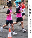 Small photo of EDINBURGH - APRIL 10: Runners take part in the ADT Edinburgh Half Marathon on April 10th, 2011 in Edinburgh, Scotland. Organizers admitted the course was 300 meters too long following complaints