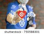 ict medicine concept.... | Shutterstock . vector #750588301