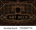 the great gatsby deco style... | Shutterstock .eps vector #750589774