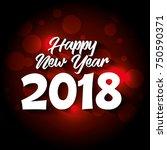 happy new year 2018 postcard | Shutterstock .eps vector #750590371