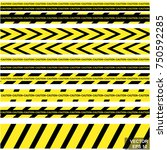 the crime scene tape. ban. no... | Shutterstock .eps vector #750592285