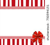 holiday greeting card with red... | Shutterstock .eps vector #750594151