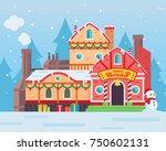 cute santa's workshop building...