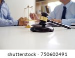 legal counsel presents to the... | Shutterstock . vector #750602491