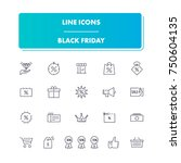 47. line icons set. black...