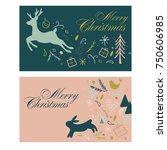 vector mail merry christmas... | Shutterstock .eps vector #750606985
