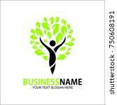 people life vector logo template   Shutterstock .eps vector #750608191