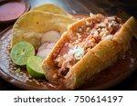 torta ahogada  popular dish... | Shutterstock . vector #750614197