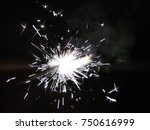 sparklers for christmas and new ... | Shutterstock . vector #750616999