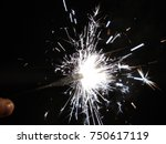 sparklers for christmas and new ... | Shutterstock . vector #750617119