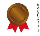 bronze medal icon illustration