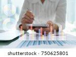 financial advisor analysis... | Shutterstock . vector #750625801