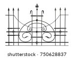 decorative forged fencing.... | Shutterstock . vector #750628837