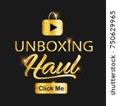 golden glitter vlog  video blog ...   Shutterstock .eps vector #750629965