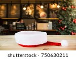 santa hat with christmas... | Shutterstock . vector #750630211