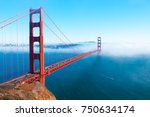 golden gate bridge high angle... | Shutterstock . vector #750634174