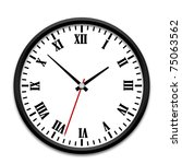 black wall clock with the roman ... | Shutterstock . vector #75063562